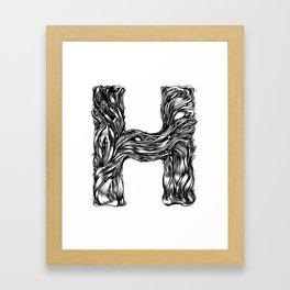 The Illustrated H Framed Art Print