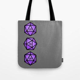 Purple d20 Tote Bag