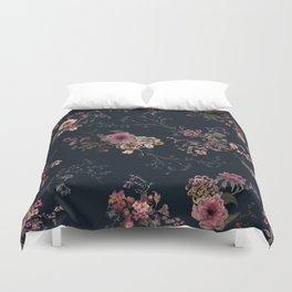 Japanese Boho Floral Duvet Cover