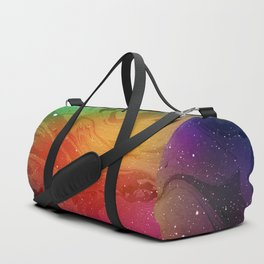 Multicolored Space Marble Duffle Bag