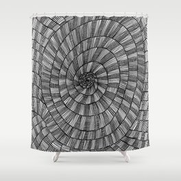 Down the Well Shower Curtain