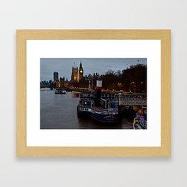 London in the nigth Framed Art Print