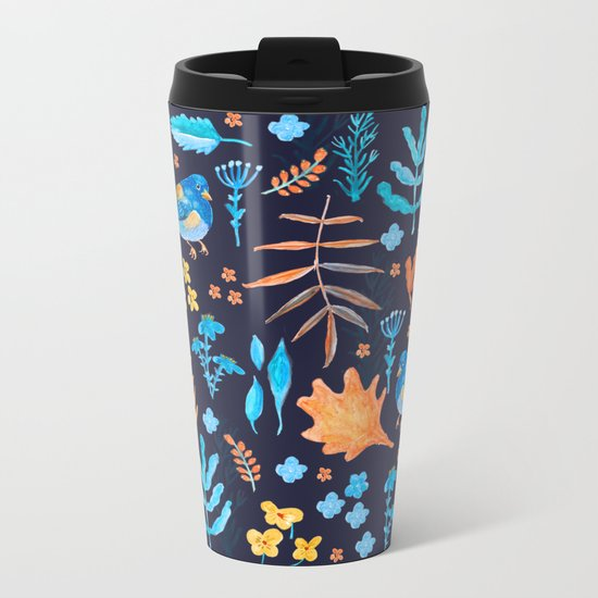 Winter Nature Metal Travel Mug