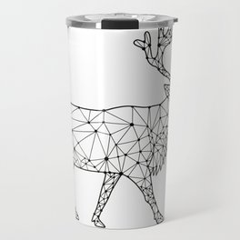 Caribou Side Nodes Black and White Travel Mug