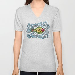Buster the Sea Bass Unisex V-Neck