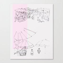 khlong toei Canvas Print