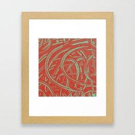 Junction - Red and Green Framed Art Print
