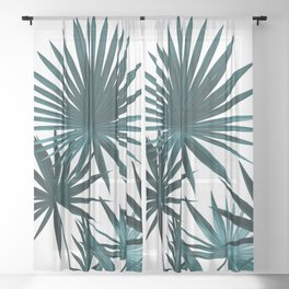 Fan Palm Leaves Jungle #1 #tropical #decor #art #society6 Sheer Curtain