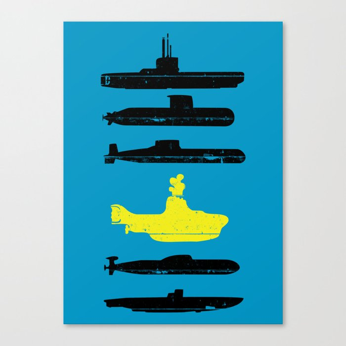 Know Your Submarines V2 Canvas Print