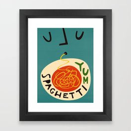 Yum Spaghetti Framed Art Print