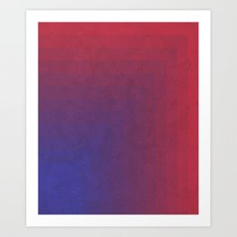 Abstract Rectangle Games - Gradient Pattern between Dark Blue and Moderate Red Art Print