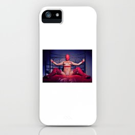 Bed Time - Naked woman tied up on a bed iPhone Case