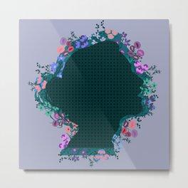 Moño de Flores Metal Print