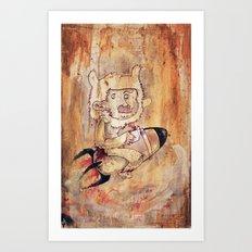Bunny Rocket Art Print