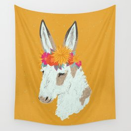 Penelope the Pinto Donkey Wall Tapestry