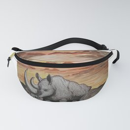 The Sun Sets on the Rhinoceros Fanny Pack