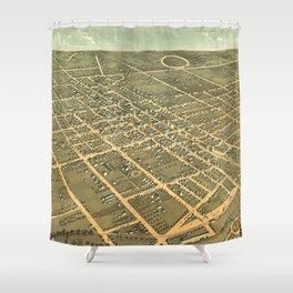Vintage Pictorial Map of Lexington Kentucky (1871) Shower Curtain