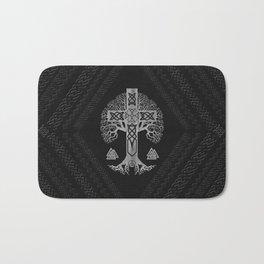 Tree of life  -Yggdrasil  and Celtic Cross Bath Mat