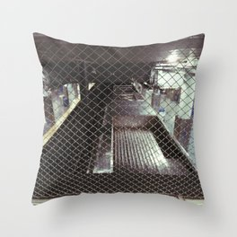 above the 2nd st el Throw Pillow