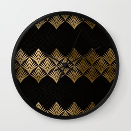 Reims, France: Luxueux Black and Gold Art Deco Wall Clock