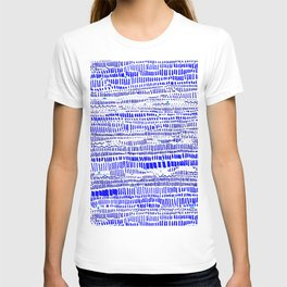 Textural lines and dashes T-shirt
