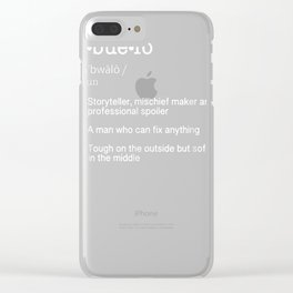 Abuelo Definition T Shirt - Funny Cool Present Gift Tee Clear iPhone Case