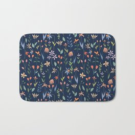 Wildflowers in the Air Navy Bath Mat