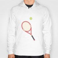tennis Hoodies featuring #19 Tennis by MNML Thing