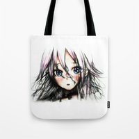 vocaloid Tote Bags featuring A Vocaloid - IA by KhalilKhalidy