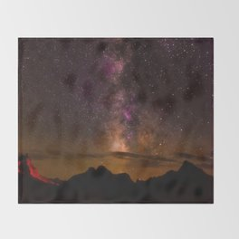 Milky Way over the Badlands South Dekota Throw Blanket