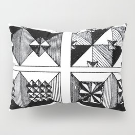 Engraved Patterns Pillow Sham