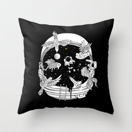Depth of Discovery (A Case of Constant Curiosity-B/W) Throw Pillow