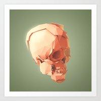 Skull Le Fort Art Print