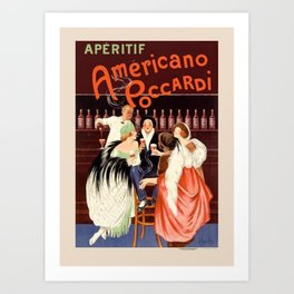 1923 Aperitif Americano Poccardi Advertisement Poster by Leonetto Cappiello Art Print