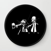 simpson Wall Clocks featuring Pulp Simpson by Stationjack