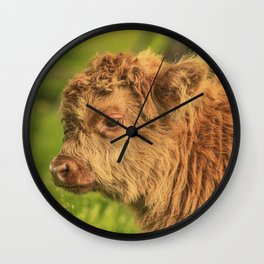 Highland Baby Wall Clock