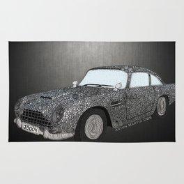 James Bond Aston Martin DB5 Rug