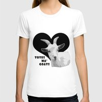 totes T-shirts featuring Totes Ma Goats - Black by BACK to THE ROOTS