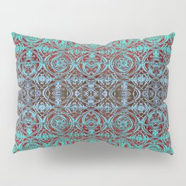 Psychedelic Ironwork Pattern Pillow Sham