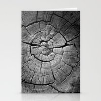 tree rings Stationery Cards featuring Rings by Jacob Haynes