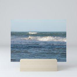 Splashing ocean waves in Queensland, Australia Mini Art Print