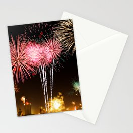 Leipzig Germany Fireworks On New Year's Eve Stationery Cards