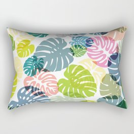 Multicolor Tropical Leaves 29 Rectangular Pillow