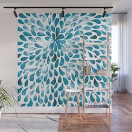 CUT OUT TEAR DROP PATTERN / INDIAN INK Wall Mural