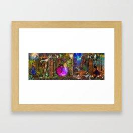The Princess Book Shelf Framed Art Print