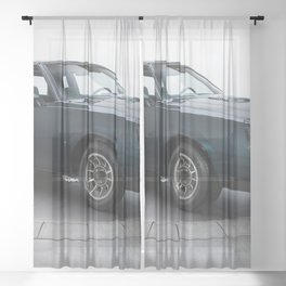 1987 Blue Grand National Regal Turbo T-Type Sheer Curtain
