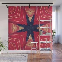 Red Feline Wall Mural