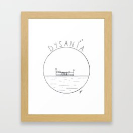 The simple pleasure of sleeping Framed Art Print