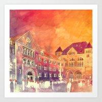 takmaj Art Prints featuring street in Poznan part 2 by takmaj