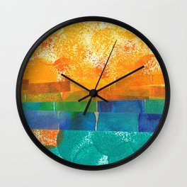Circle Landscape Wall Clock